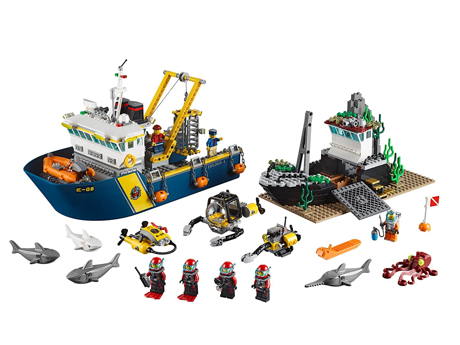lego 60095 city explorers deep sea exploration vessel lego amazoncouk toys games