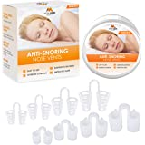 Breathing Relief Nasal Dilator - Pack of 8 Medical Grade Silicon, Anti Snoring Device Nose Vents - Simple Snoring…