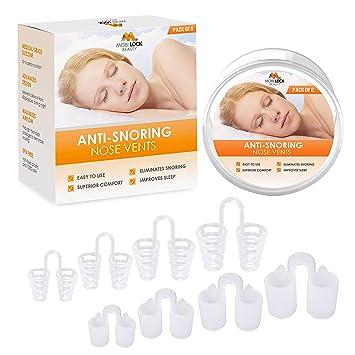 Dilatador nasal de alivio respiratorio - Paquete de 8 respiraderos ...