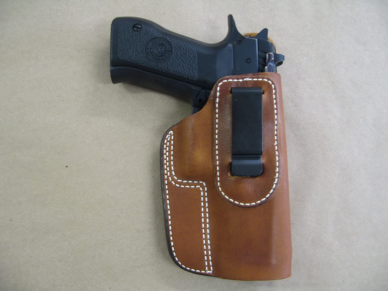 Amazon Com Jericho 941 Iwb Leather In The Waistband Concealed Carry Holster Tan Rh Sports Outdoors