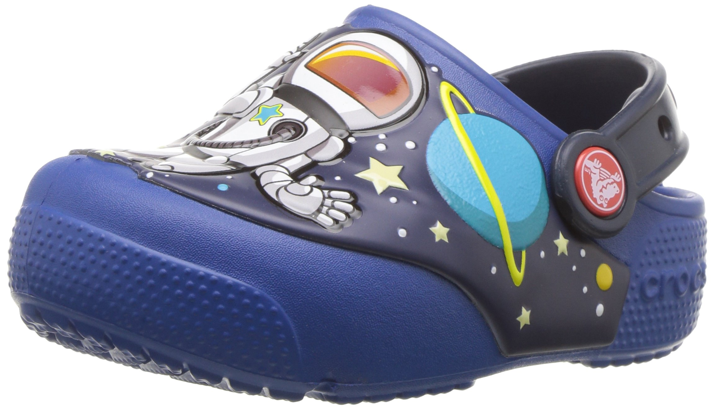 Crocs Unisex-Kids Funlab Spaceexp Lights Clog, Blue Jean, 13 M US Little Kid