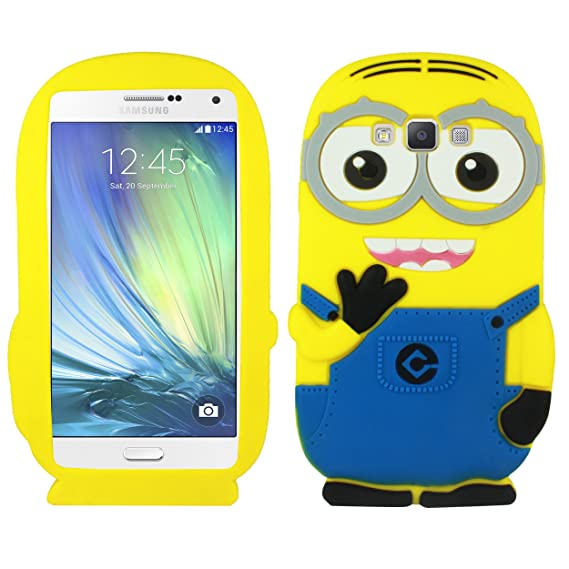Heartly Cute Cartoon Soft Rubber Silicone Flip Bumper Best Back Case Cover  for Samsung Galaxy A7 2015 SM-A700F Double Eye