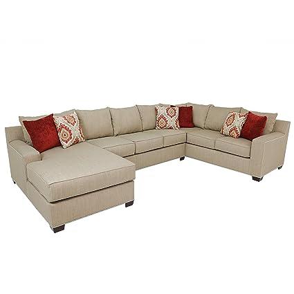 Pleasant Amazon Com Dylan Oversized Transitional Beige Upholstered Inzonedesignstudio Interior Chair Design Inzonedesignstudiocom