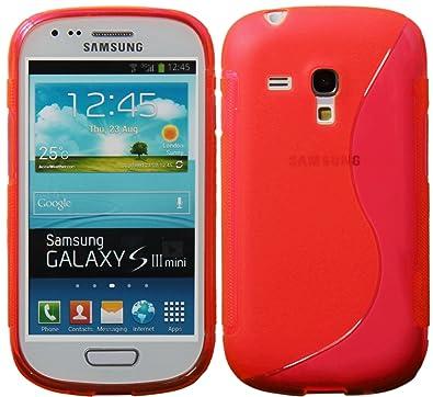 Nueva Carcasa TPU S Line Cover Funda en Silicona para Samsung Galaxy S3 Mini - Rojo