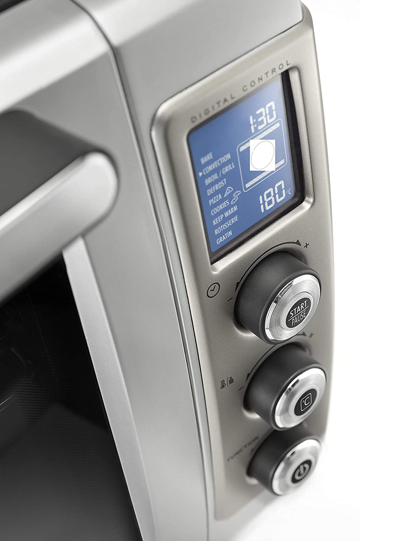 DeLonghi DO 32852 Horno de convección, Giratorio, Temporizator digital, 2200 W, 32 L, acero esmaltado, negro y plata: Amazon.es: Hogar