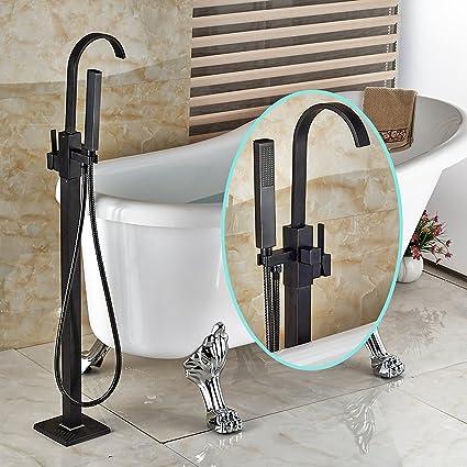 Senlesen Floor Mount Bathtub Faucet Free Standing Filler Tub with ...