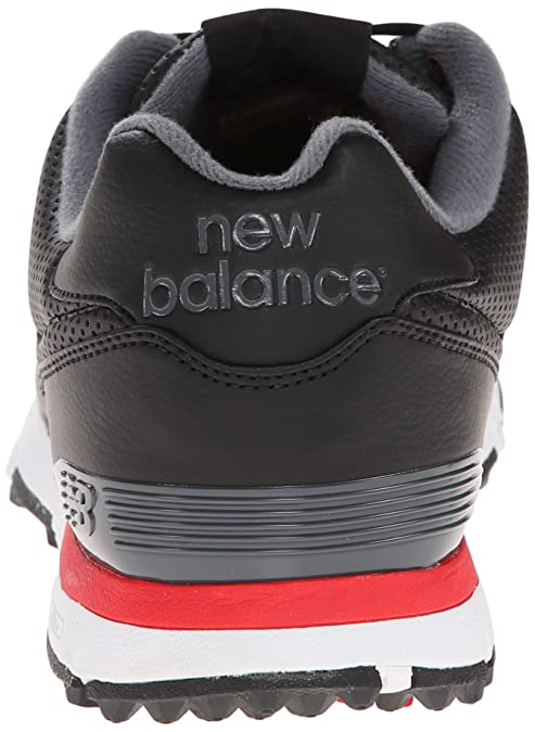 New Balance Men's NBG574 Spiked M, BlackRedWhite, 15 4E US