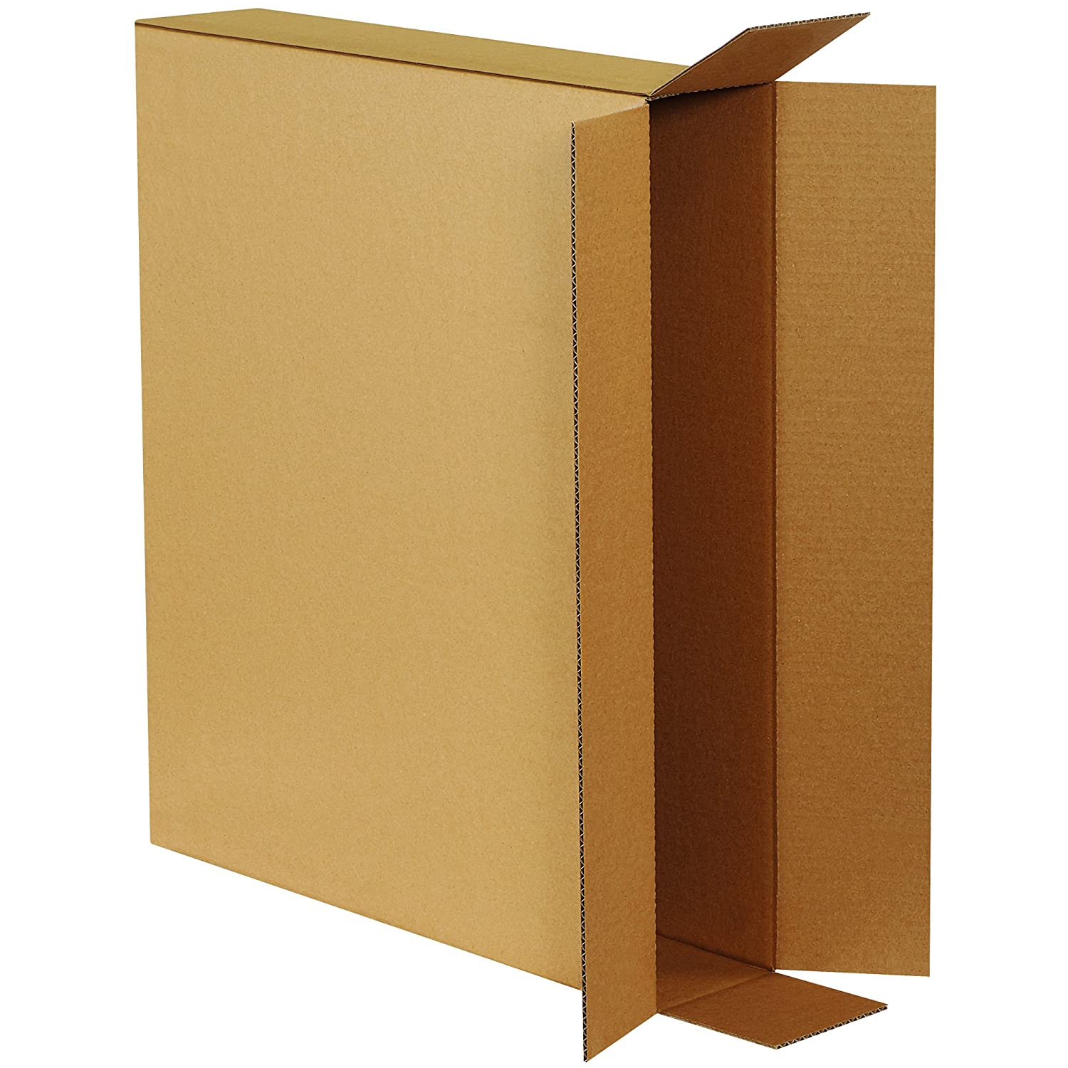 """Pack of 4 Side Loading Corrugated Cardboard Shipping Boxes 24/""""x5/""""x18/"""""""