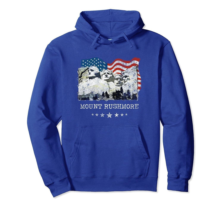 Mount Rushmore Flag Souvenirs T-Shirt Gift Tee-ln