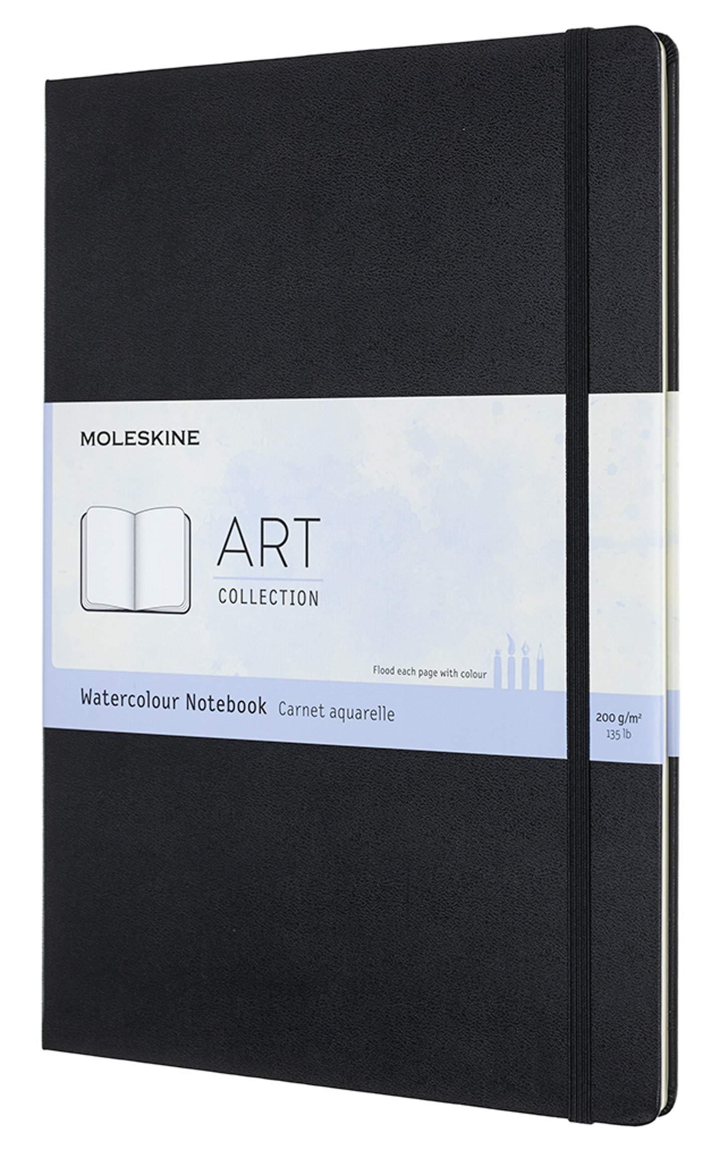 Moleskine Art Watercolor Notebook, Hard Cover, A4 (8.25'' x 11.75'') Plain/Blank, Black