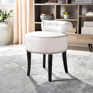 Remarkable Amazon Com Safavieh Mercer Collection Georgia Vanity Stool Machost Co Dining Chair Design Ideas Machostcouk