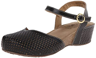 Spring Step L'Artiste Leather Wedge Clogs - Lizzie cheap low price ZcKIuPNsbP