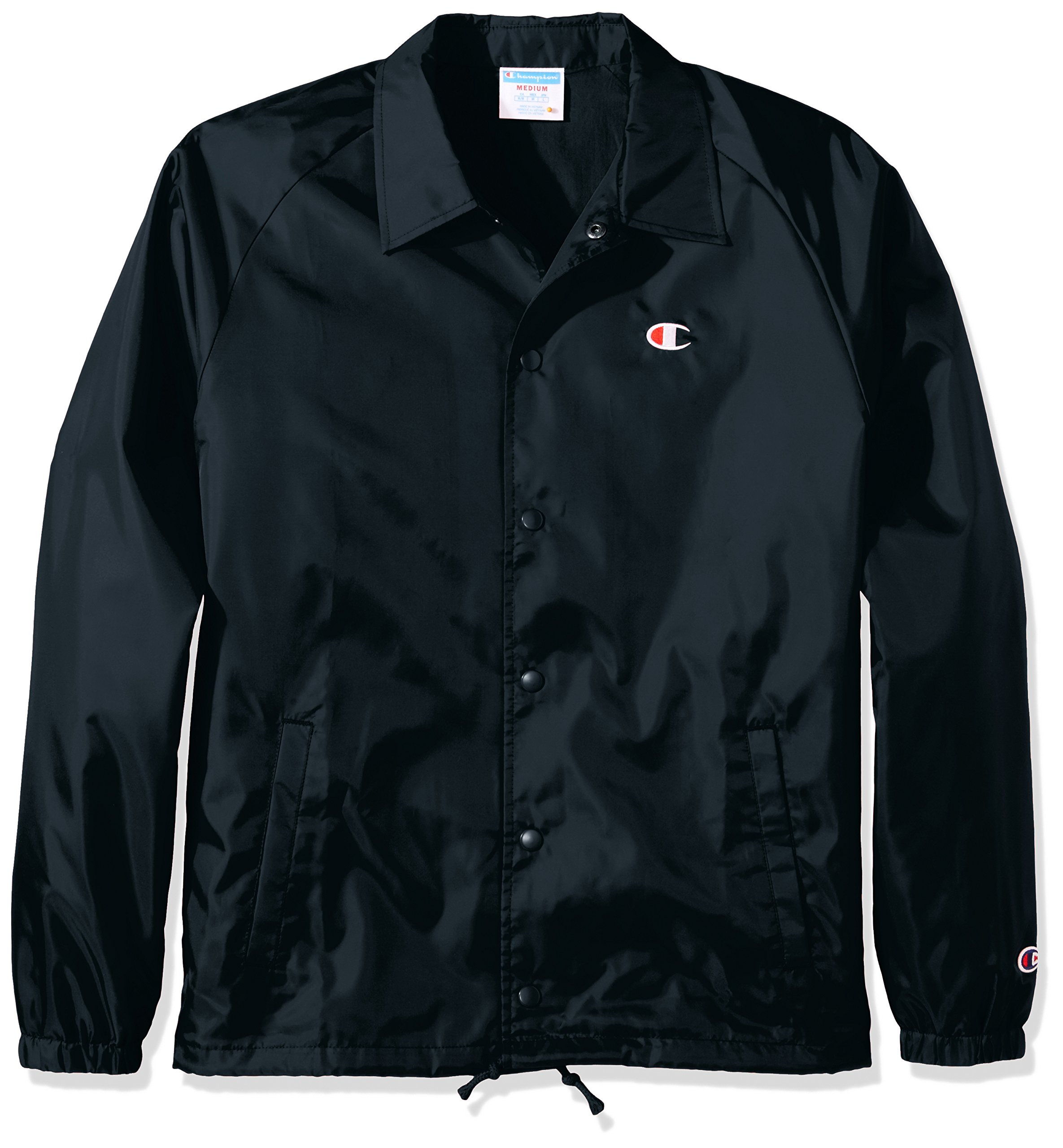 Champion LIFE Men's Coaches Jacket West Breaker Edition, Black, S by Champion LIFE