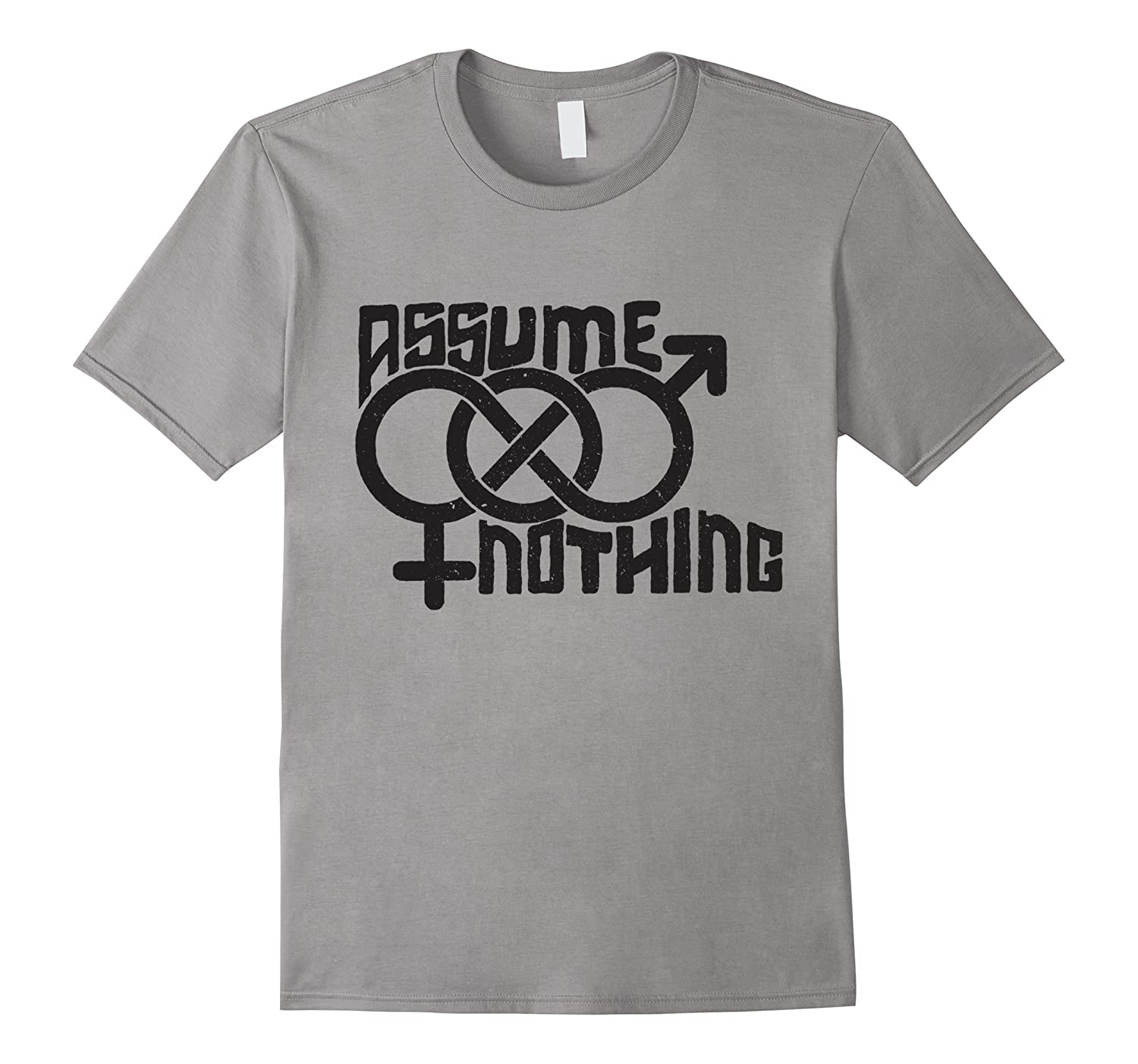 Assume Nothing Bisexual Support Gay Lgbt Pride T-Shirt-Vaci