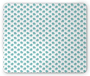 turquoise mouse pad by ambesonne new years christmas theme winter snow gloves with furry borders