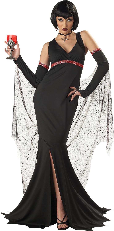 Immortal Seductress Vampire Ladies Fancy Dress Halloween Gothic ...