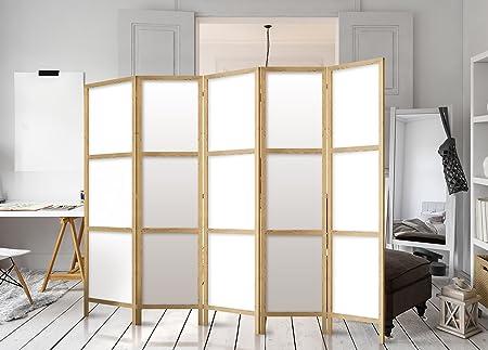 murando - Biombo XXL 225x171 cm - 5 Paneles Lienzo de Tejido no ...