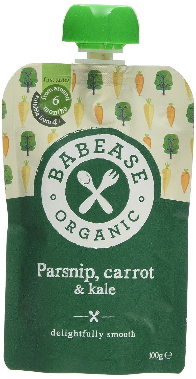 Babease Organic Parsnip Carrot Kale 100g (pack of 8) Babease Ltd BS110