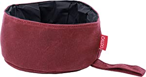 CALDO Collapsible Dog Bowl - Perfect for Food and Water on the Go (Burgundy)
