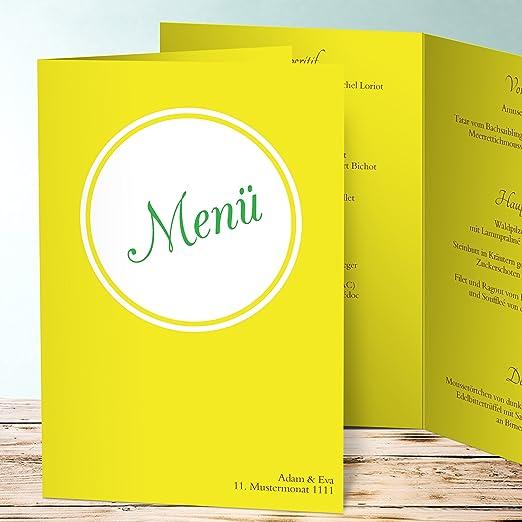 Menükarte Goldene Hochzeit Kreisbote 90 Karten Vertikale