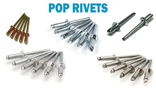 POP Rivets Stainless Steel Blind Rivets 4-10 1//8 x 5//8 Grip USA Made Qty 250