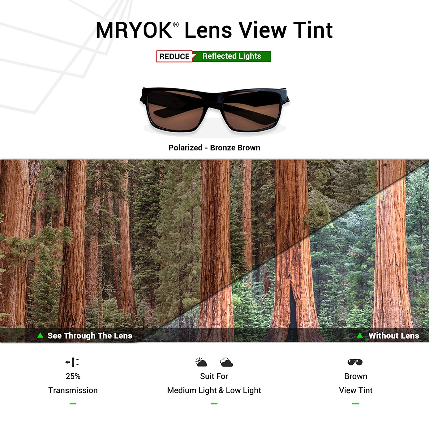 f422301fe59de Amazon.com  Mryok Polarized Replacement Lenses for Oakley Tightrope -  Bronze Brown  Clothing