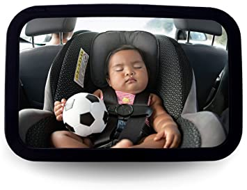 Safety and Wide Baby Rear View Mirror to See Rear Facing Infants,babies Baby Car Mirror for Back Seat Kids and Child Baby Car Seat Mirror