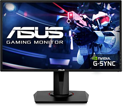"""Amazon.com: Asus VG248QG 24"""" Gaming Monitor, 1080P Full HD, 165Hz (Supports 144Hz), G-SYNC Compatible, 0.5ms, Extreme Low Motion Blur, Eye Care, DisplayPort HDMI DVI,Black: Computers & Accessories"""