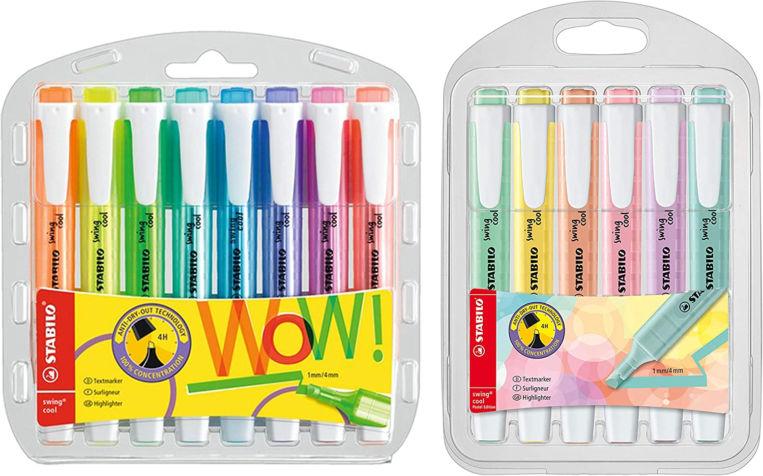 8er Pack + 6er Pack Pastell Edition STABILO swing cool Pastel Edition Textmarker
