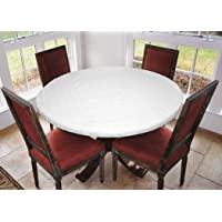 """LAMINET - Deluxe Cushioned Heavy-Duty Elastic Edged Quilted Table Pad - Small Round - Fits Tables up to 44"""" Diameter…"""