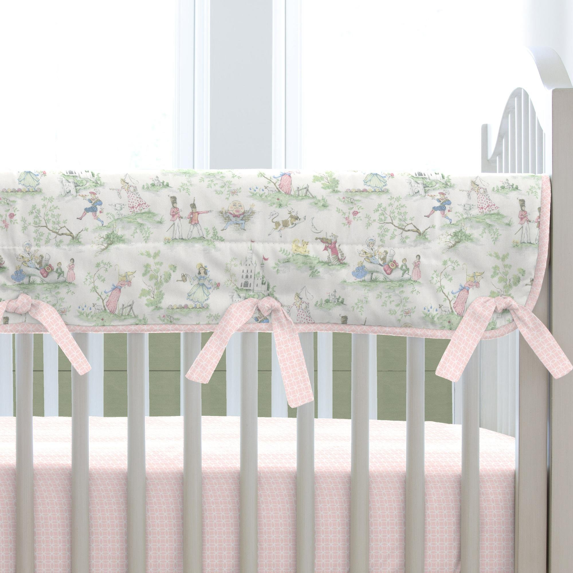 Carousel Designs Pink Over the Moon Toile Crib Rail Cover