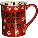 Enesco 4026109 Our Name Is Mud by Lorrie Veasey Crazy Cat Lady Mug, 4-1/2-Inch