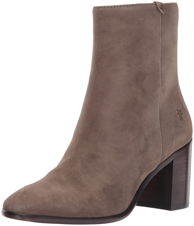 FRYE Women's Julia Bootie Boot B01MY0NIYM 10 B(M) US|Dark Taupe Suede