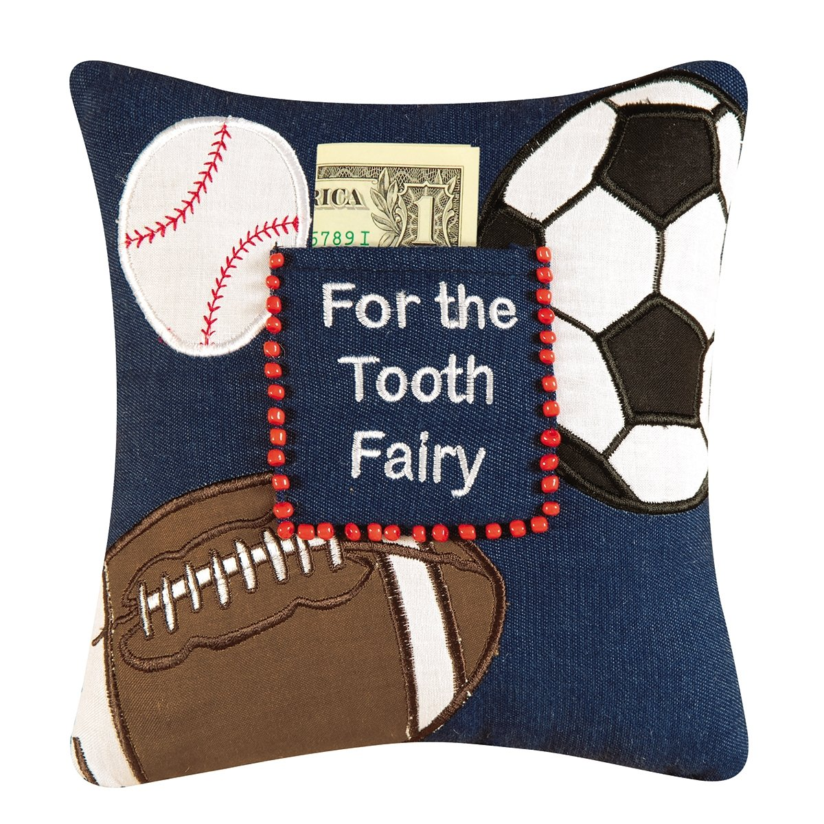 C&F Home 8'' x 8'' Saying Pillow w/Pocket, Tooth Fairy