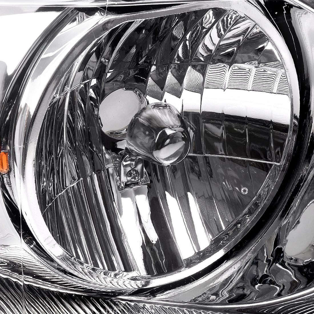 Amazon.com: For Ford F150 Pickup 2004-2008 Headlight Chrome Housing Amber  Reflector Clear Lens,Passenger & Driver side: Automotive