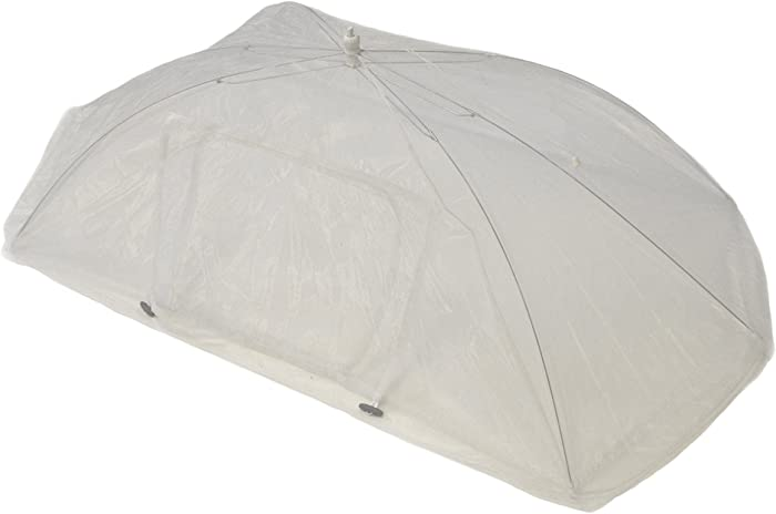 Not In My Backyard NB0017 Tabletop Food Tent with Access Door/Rectangle, 48.1 x 24.02 x 14.37, White