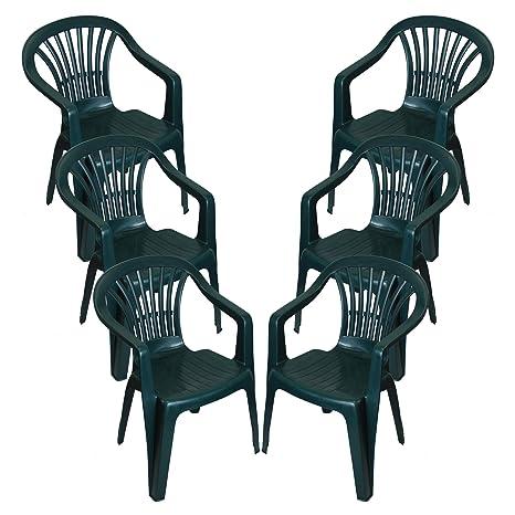 Sedie In Plastica Da Interno.Crazygadget Sedie Impilabili In Plastica Da Interno O Esterno