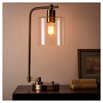Hudson Industrial Table Lamp Ebony Threshold Amazon Com