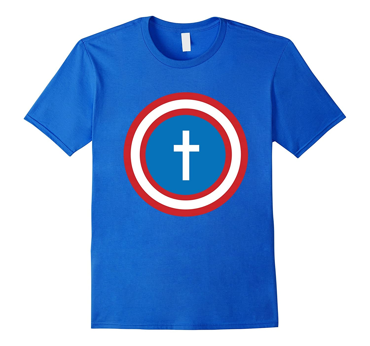 JESUS IS MY SUPERHERO Shield Shirt