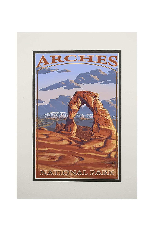 お気に入り アーチーズ国立公園、ユタ州 – Delicate Arch Art Print 12 x 18 Art Matted Print LANT-23892-12x18 B06Y1165WG 11 x 14 Matted Art Print 11 x 14 Matted Art Print, Scrape:ef95e2c3 --- afisc.net