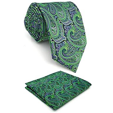 Shlax /& Wing Mens Neckties Ties Paisley Green Purple Accessories For Men Long
