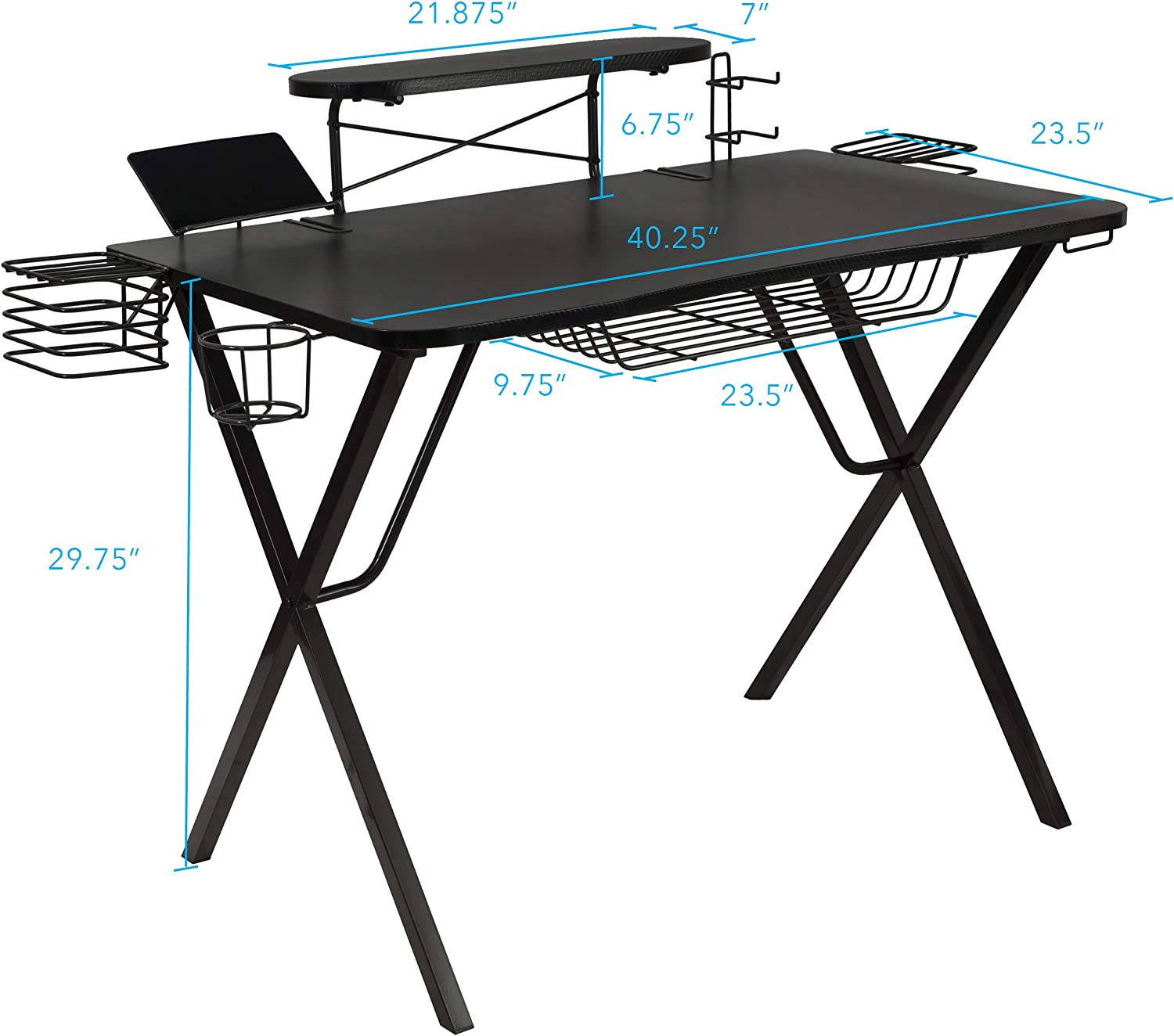 Atlantic Gaming Original Gaming-Desk Pro - Curved-Front