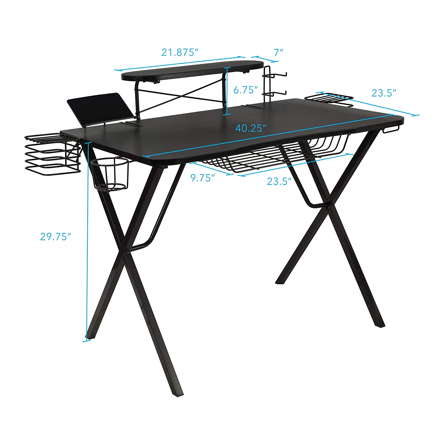best service 29bad 240fc Atlantic Gaming Original Gaming-Desk Pro - Curved-Front, 10 Games,  Controller, Headphone & Speaker Storage, 40.25