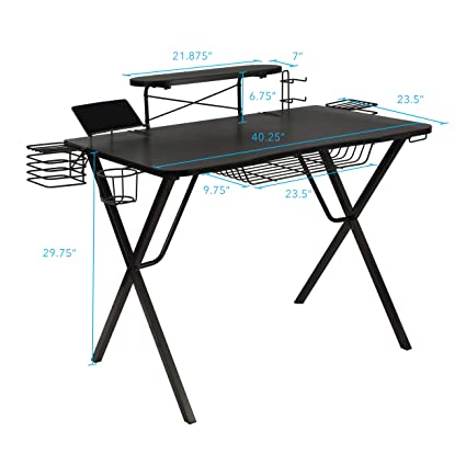 0460da721ec Amazon.com  Atlantic Gaming Original Gaming-Desk Pro - Curved-Front ...