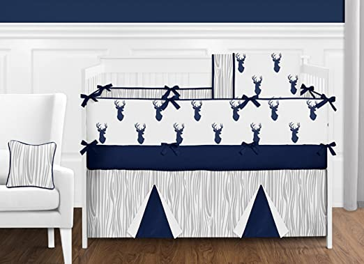 Boys Accent Floor Rug Bedroom D/écor for Navy and White Woodland Deer Kids Bedding Collection Sweet Jojo Designs B01LVXQDOW