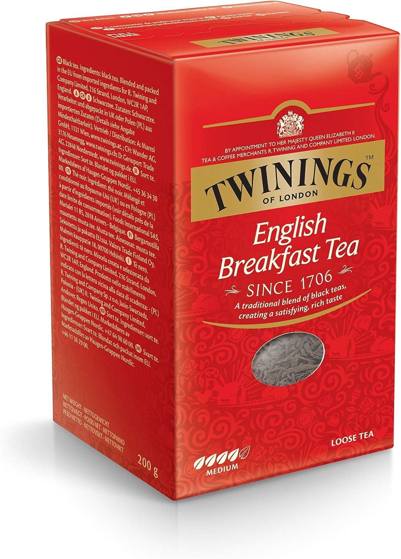 Twinings Té sin English Breakfast 200 g, 1er Pack (1 x 200 g): Amazon.es: Alimentación y bebidas