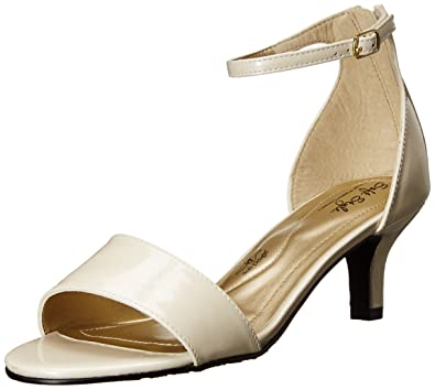 Soft Style by Hush Puppies Women's Madalyn Dress Sandal, Ivory Pearlized  Patent, ...