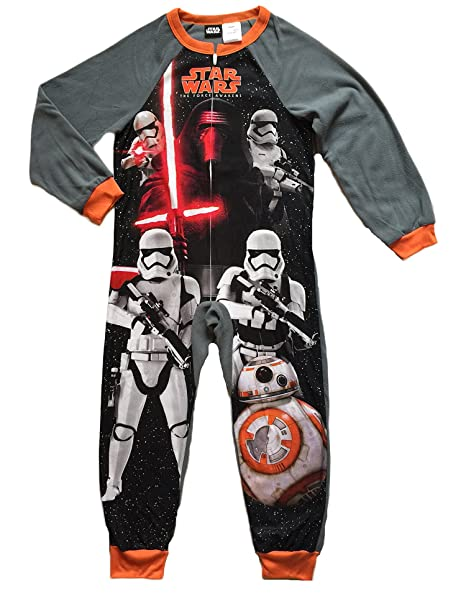 71de1dda3 AME Sleepwear Star Wars Boys One Piece Fleece Sleeper Pajama (4-5 ...