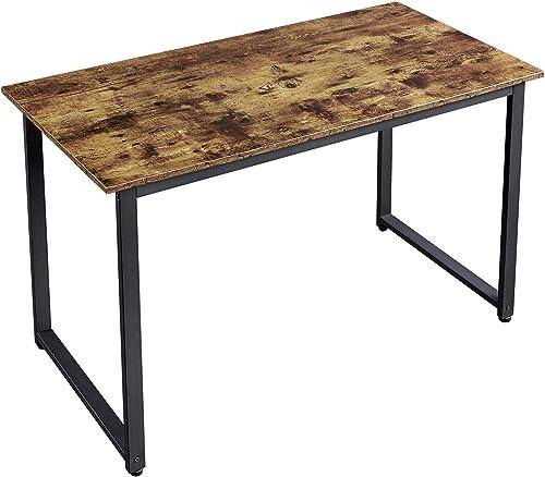 YAHEETECH Modern Computer Desk Writing Workstation Desk PC Laptop Table