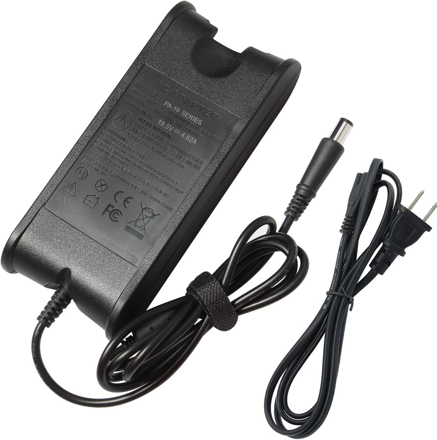 Futurebatt 90W AC Adapter Laptop Charger for Dell Studio XPS-15 15z 16 17 1535 1537 1555 1558 1569 L501x L502x 1640 1737 1749 M1210 M1330 M140 M1530 M1710 Notebook